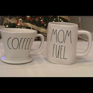 Rae Dunn Coffee Drip and Mom Fuel Brand New
